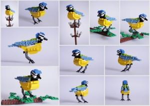Mésange bleue en Lego
